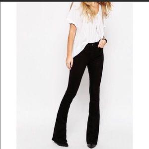 Zara Black Z1975 High Waist Skinny Flare Jeans